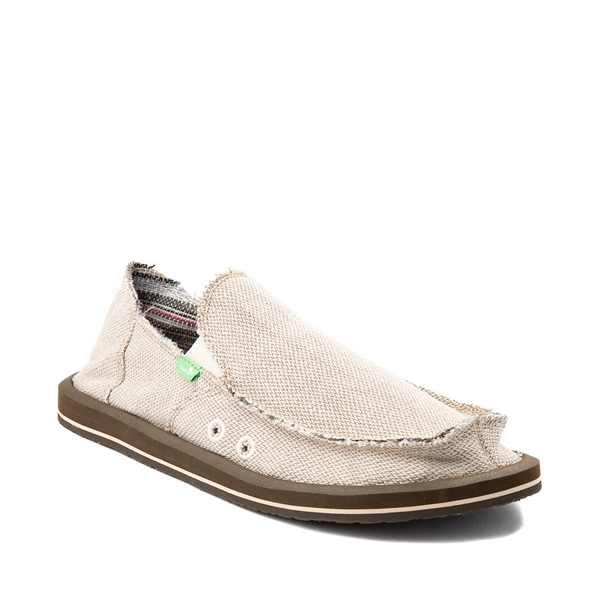 alternate view Mens Sanuk Hemp Casual Shoe - KhakiALT5