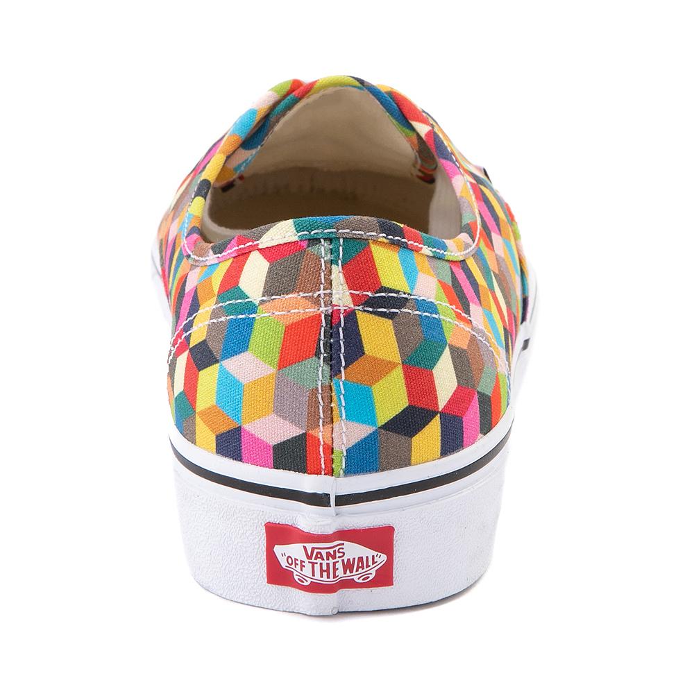Vans Authentic 3D Checkerboard Skate Shoe - Multicolor