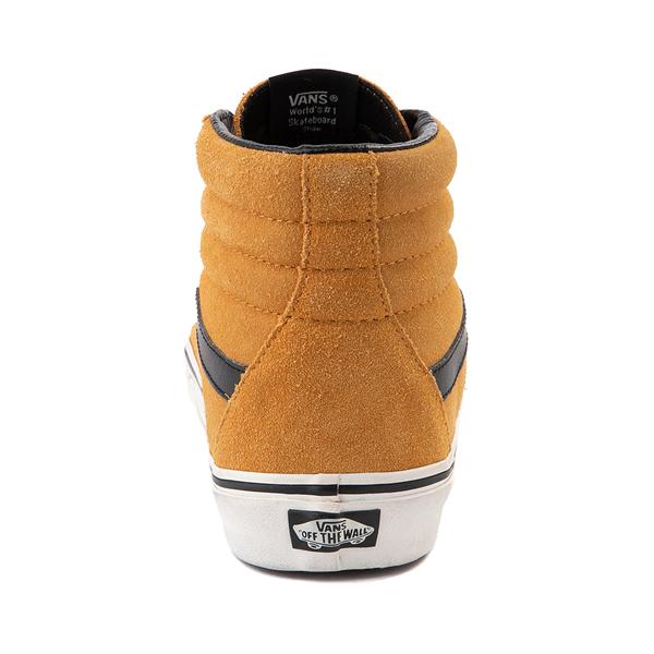 alternate view Vans Sk8 Hi Skate Shoe - Wheat / BlackALT4