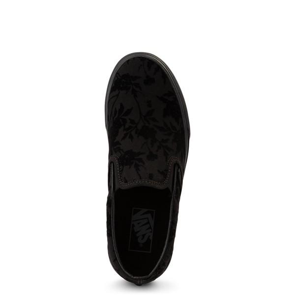 alternate view Vans Slip On Flocked Roses Skate Shoe - Black MonochcromeALT2