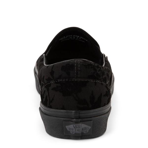 alternate view Vans Slip On Flocked Roses Skate Shoe - Black MonochcromeALT4