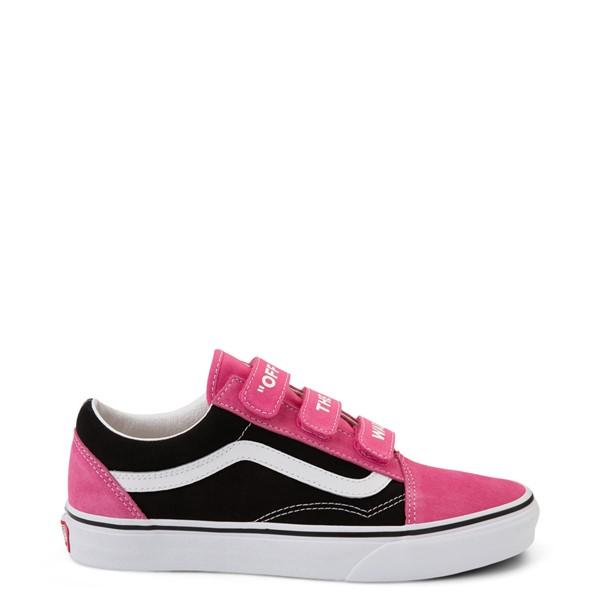Vans Old Skool V Off The Wall Skate Shoe - Shock Pink / Black