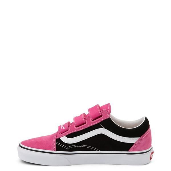 alternate view Vans Old Skool V Off The Wall Skate Shoe - Shock Pink / BlackALT1