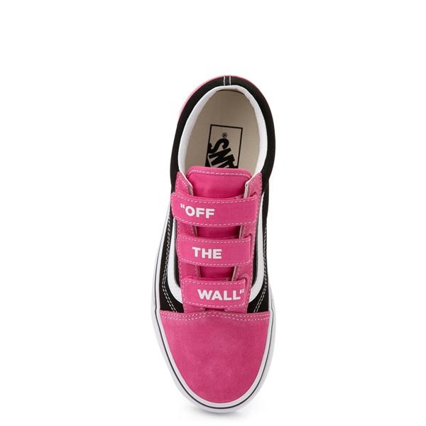alternate view Vans Old Skool V Off The Wall Skate Shoe - Shock Pink / BlackALT2