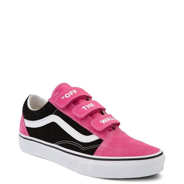 alternate view Vans Old Skool V Off The Wall Skate Shoe - Shock Pink / BlackALT5