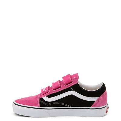 Alternate view of Vans Old Skool V Off The Wall Skate Shoe - Shock Pink / Black