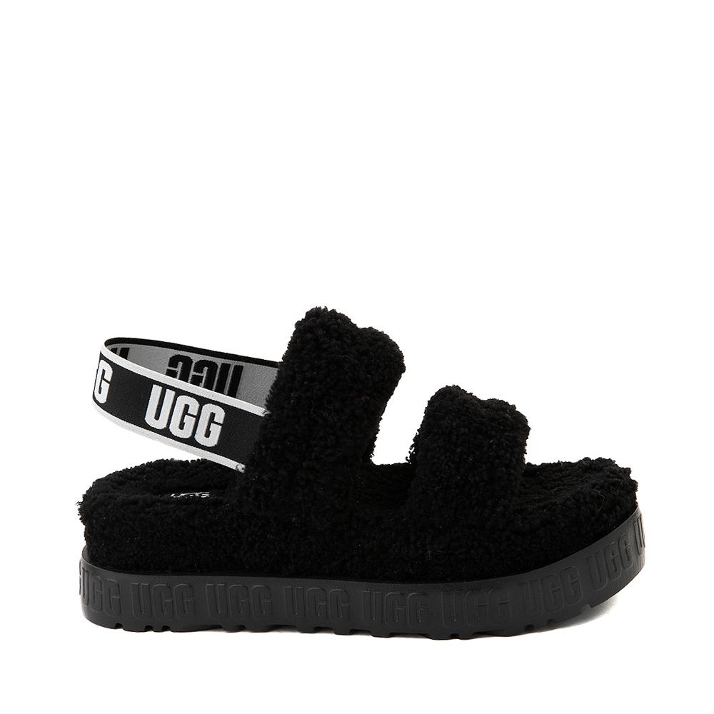 Womens UGG® Oh Fluffita Sandal - Black