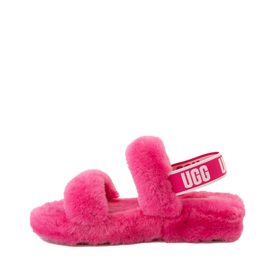 Alternate view of Womens UGG® Oh Yeah Slide Sandal - Berry