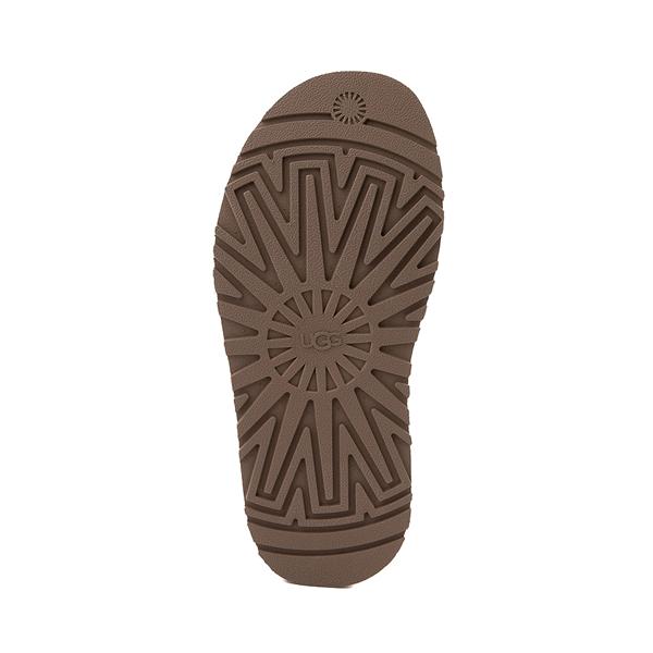 alternate view Womens UGG® Disco Stripe Platform Slide Sandal - Chestnut / Pink RoseALT3