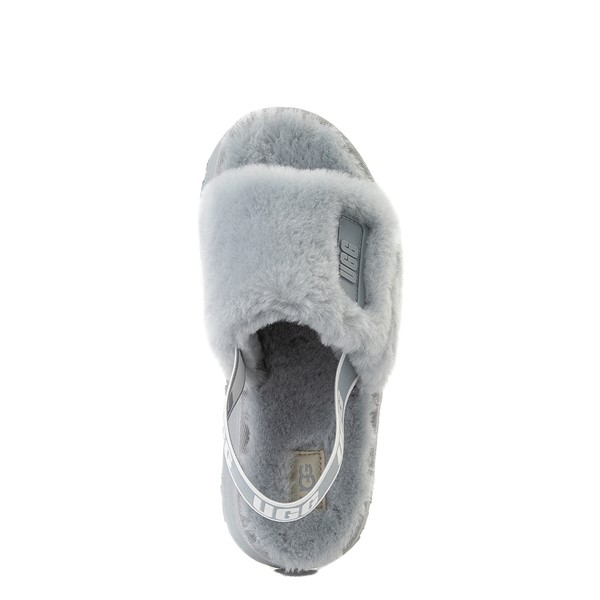 alternate view Womens UGG® Disco Platform Slide Sandal - Ash FogALT2
