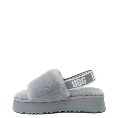 Alternate view of Womens UGG® Disco Platform Slide Sandal - Ash Fog