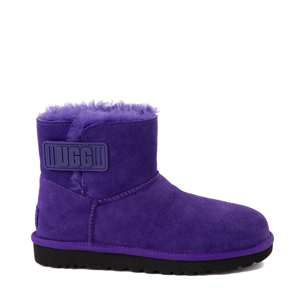 Main view of Womens UGG® Mini Bailey Logo Strap Boot - Violet Night
