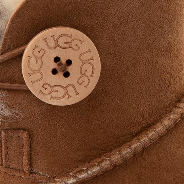 alternate view Womens UGG® Mini Bailey Button Boot - ChestnutALT2B