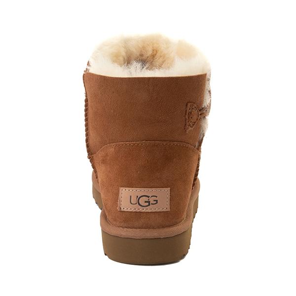 alternate view Womens UGG® Mini Bailey Button Boot - ChestnutALT4
