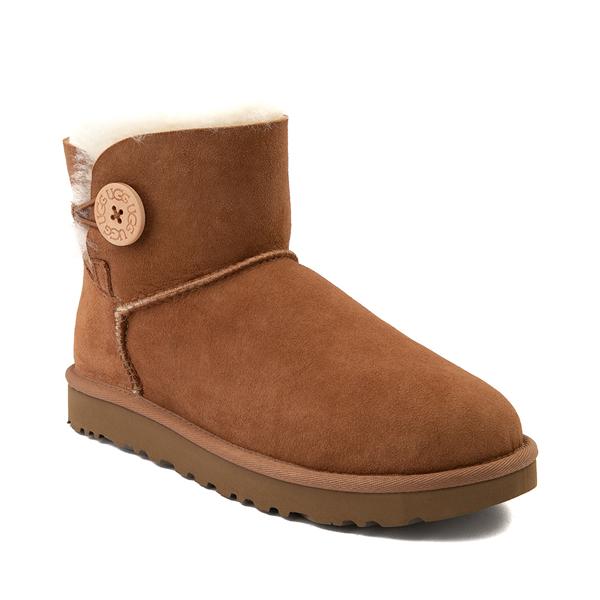 alternate view Womens UGG® Mini Bailey Button Boot - ChestnutALT5