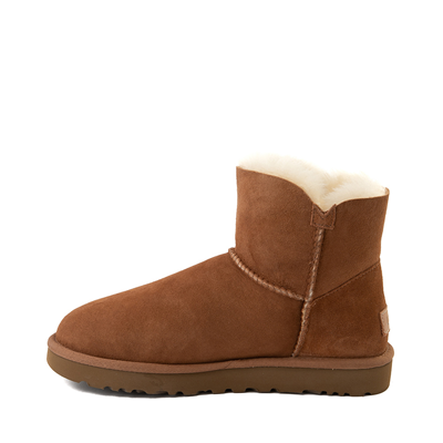 Alternate view of Womens UGG® Mini Bailey Button Boot - Chestnut