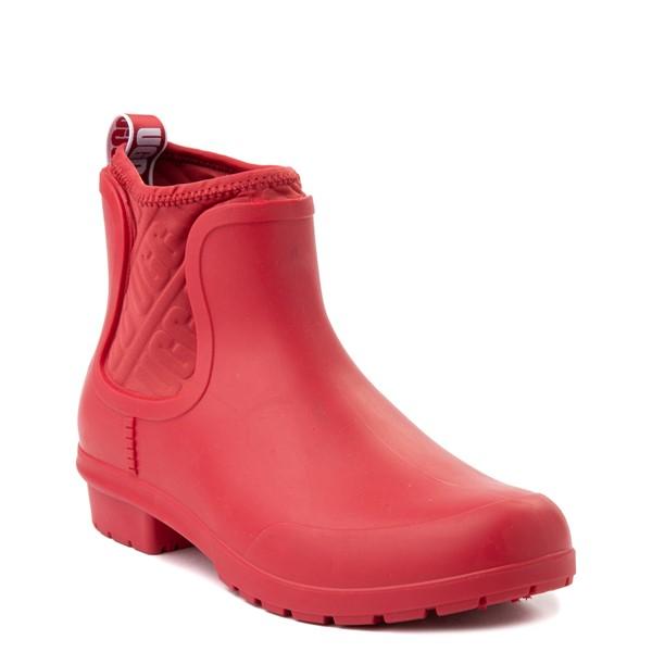 alternate view Womens UGG® Chevonne Chelsea Rain Boot - Ribbon RedALT5