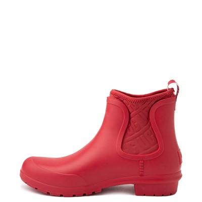 Alternate view of Womens UGG® Chevonne Chelsea Rain Boot - Ribbon Red
