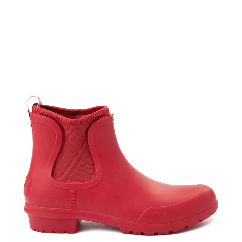 Womens UGG® Chevonne Chelsea Rain Boot - Ribbon Red