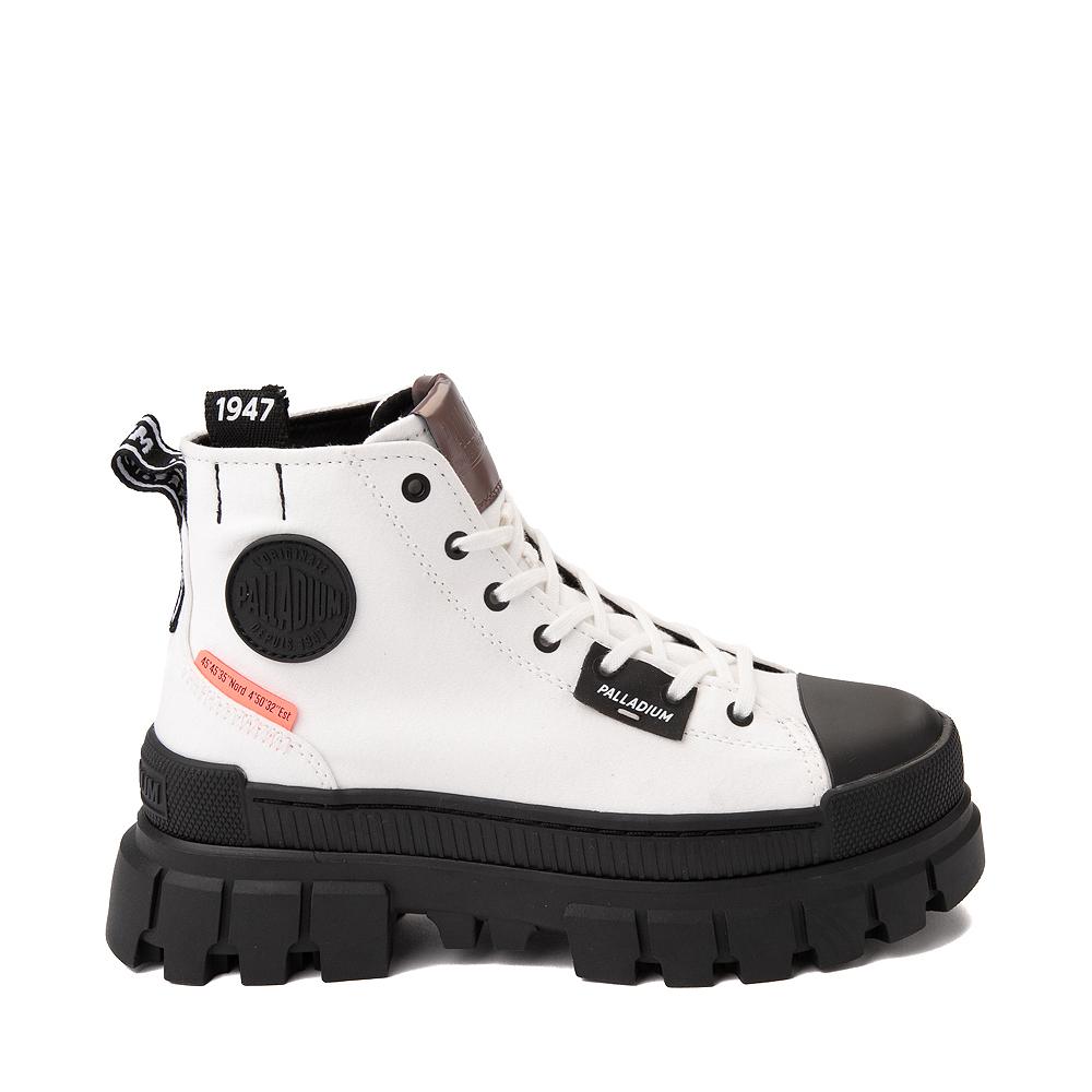 Womens Palladium Revolt Hi Platform Boot - White