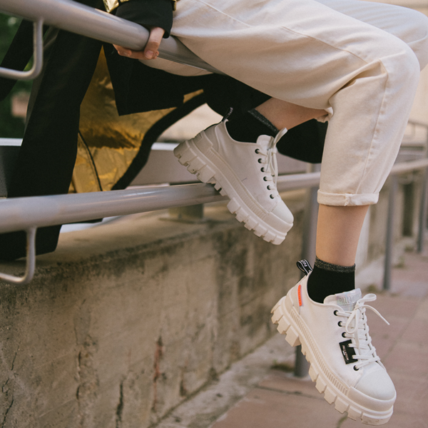 alternate view Womens Palladium Revolt Lo TX Star Sneaker - WhiteALT1B