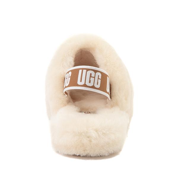 alternate view UGG® Fluff Yeah Slide Sandal - Little Kid / Big Kid - NaturalALT4