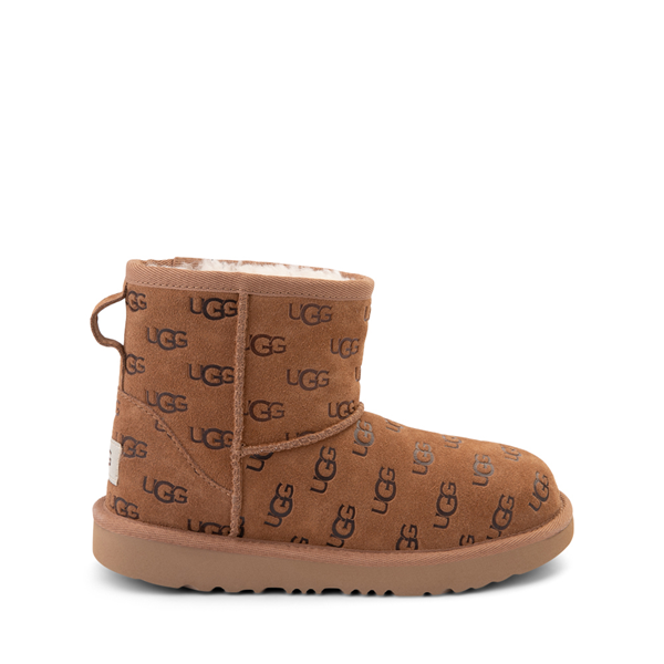 Main view of UGG® Classic Mini Embossed Boot - Little Kid / Big Kid - Chestnut