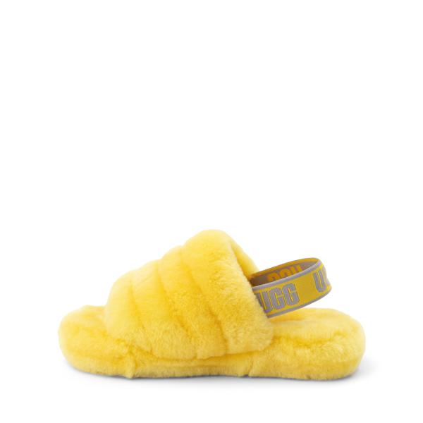alternate view UGG® Fluff Yeah Slide Sandal - Little Kid / Big Kid - LemonALT1