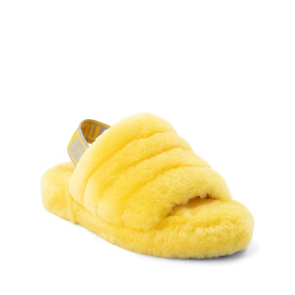 alternate view UGG® Fluff Yeah Slide Sandal - Little Kid / Big Kid - LemonALT5