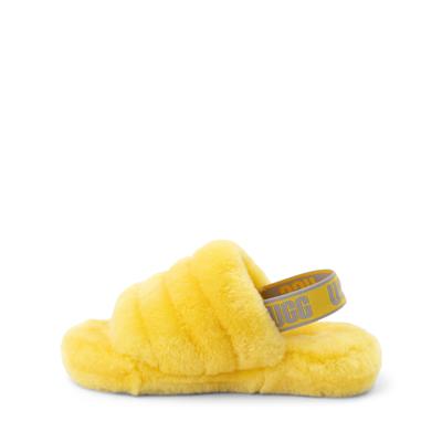 Alternate view of UGG® Fluff Yeah Slide Sandal - Little Kid / Big Kid - Lemon