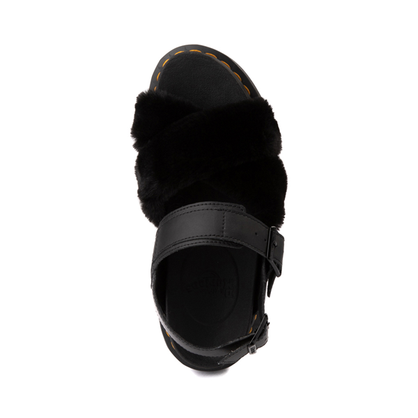 alternate view Womens Dr. Martens Voss II Fluffy Sandal - BlackALT2