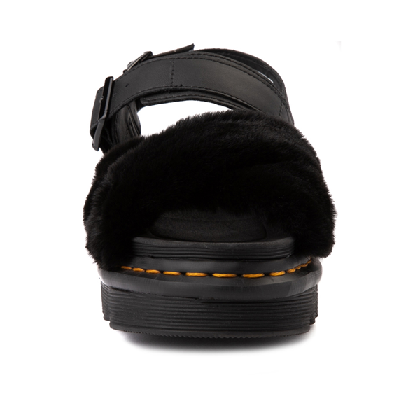 alternate view Womens Dr. Martens Voss II Fluffy Sandal - BlackALT4
