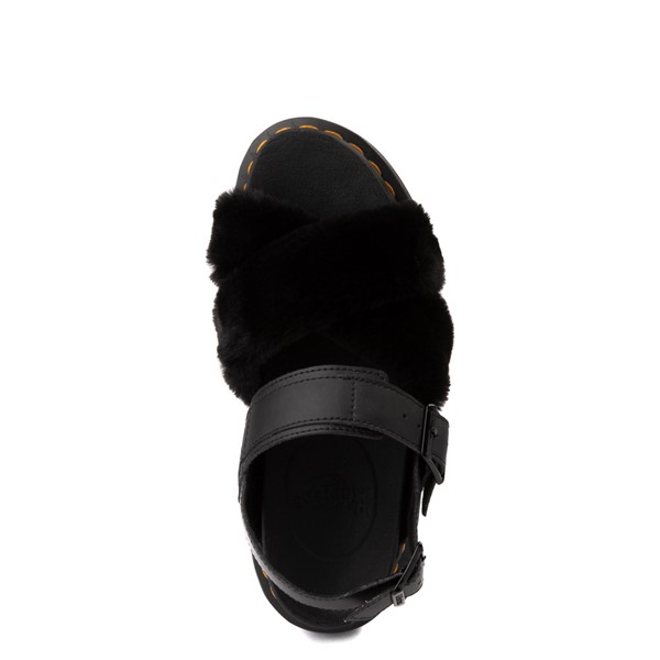 alternate view Womens Dr. Martens Voss II Fluffy Sandal - BlackALT4B
