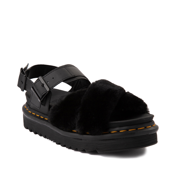 alternate view Womens Dr. Martens Voss II Fluffy Sandal - BlackALT5