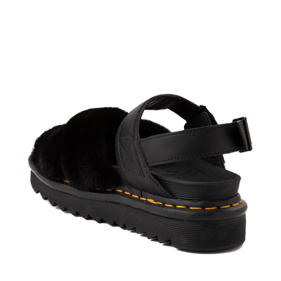 Alternate view of Womens Dr. Martens Voss II Fluffy Sandal - Black