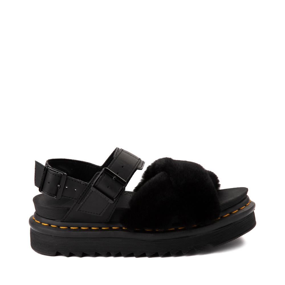 Womens Dr. Martens Voss II Fluffy Sandal - Black