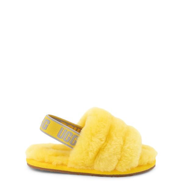 Main view of UGG® Fluff Yeah Slide Sandal - Toddler / Little Kid - Lemon