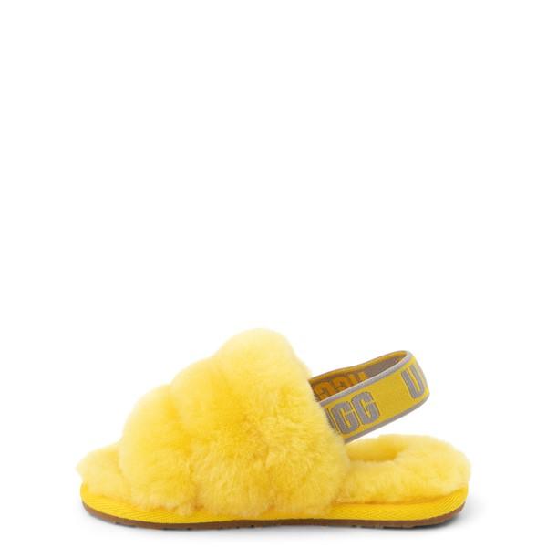 alternate view UGG® Fluff Yeah Slide Sandal - Toddler / Little Kid - LemonALT1