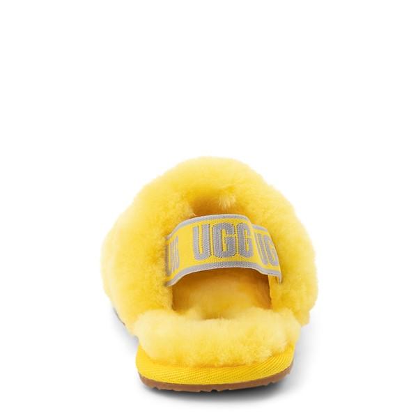 alternate view UGG® Fluff Yeah Slide Sandal - Toddler / Little Kid - LemonALT4