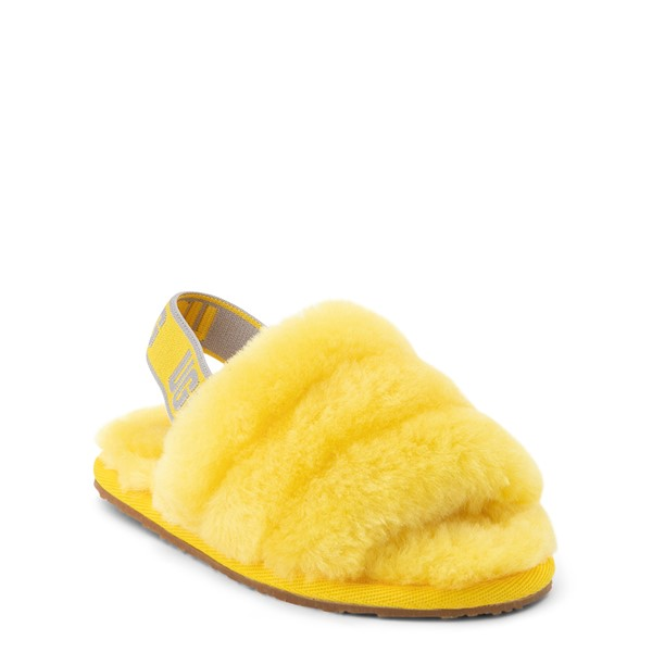 alternate view UGG® Fluff Yeah Slide Sandal - Toddler / Little Kid - LemonALT5