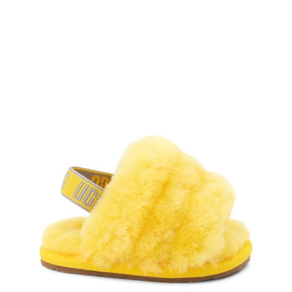Main view of UGG® Fluff Yeah Slide Sandal - Baby / Toddler - Lemon