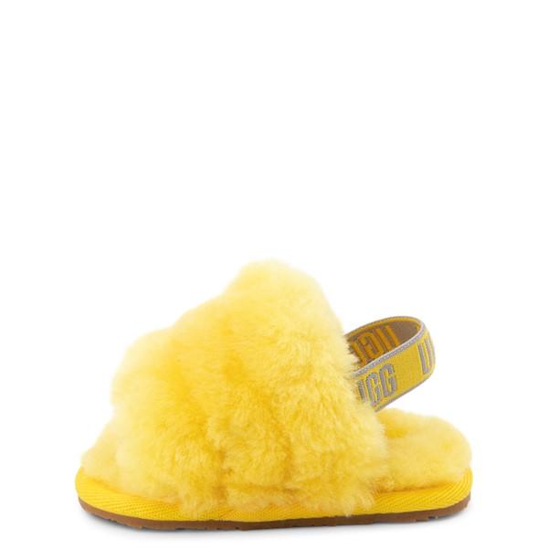 alternate view UGG® Fluff Yeah Slide Sandal - Baby / Toddler - LemonALT1