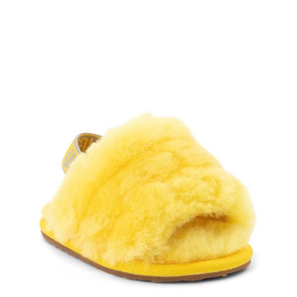 alternate view UGG® Fluff Yeah Slide Sandal - Baby / Toddler - LemonALT5