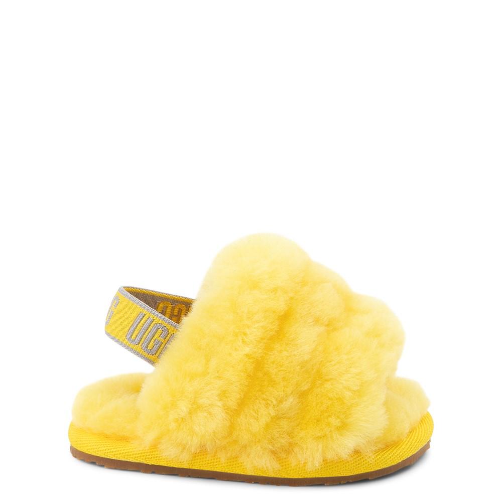 UGG® Fluff Yeah Slide Sandal - Baby / Toddler - Lemon