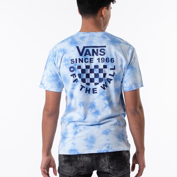 Mens Vans Checker Logo Tie Dye Tee - Nautical Blue