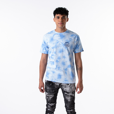 Alternate view of Mens Vans Checker Logo Tie Dye Tee - Nautical Blue