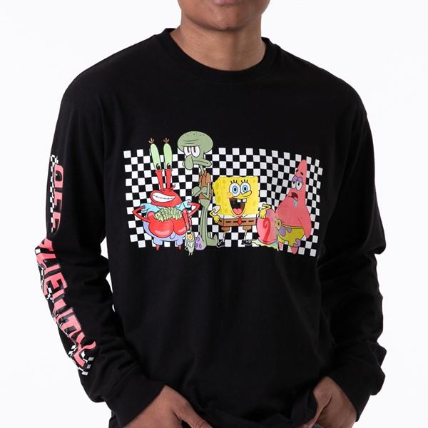 alternate view Mens Vans x SpongeBob Squarepants™ Long Sleeve Tee - BlackALT1B