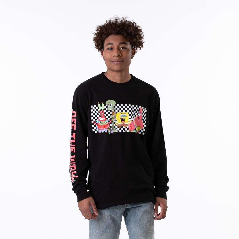 Mens Vans x SpongeBob Squarepants™ Long Sleeve Tee - Black