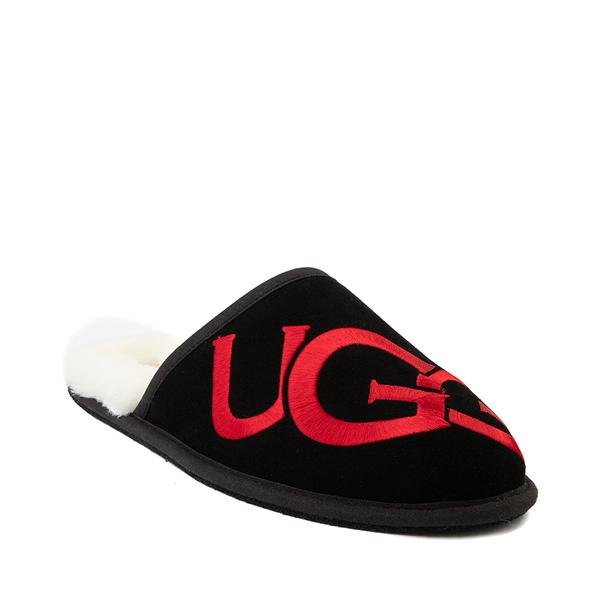 alternate view Mens UGG® Scuff Logo Slipper - BlackALT5