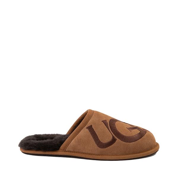 Mens UGG® Scuff Logo Slipper - Chestnut
